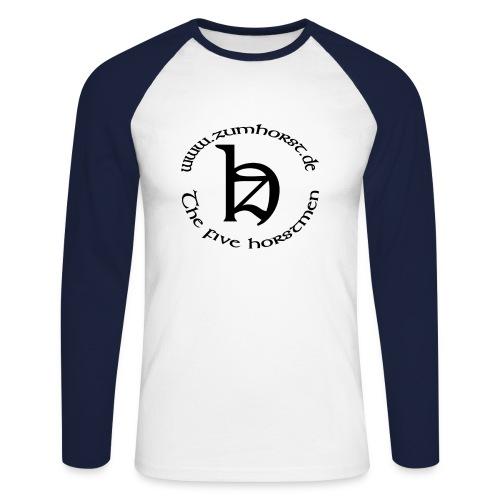 Logo lang beidseitig - Männer Baseballshirt langarm