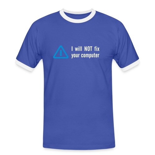 g-IEK! - Männer Kontrast-T-Shirt