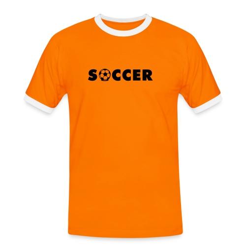 T-Shirt Soccer - Männer Kontrast-T-Shirt