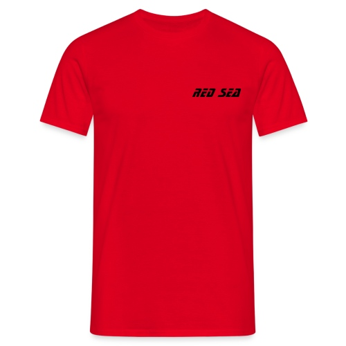 Red Sea with Rear Slogan - Men's T-Shirt