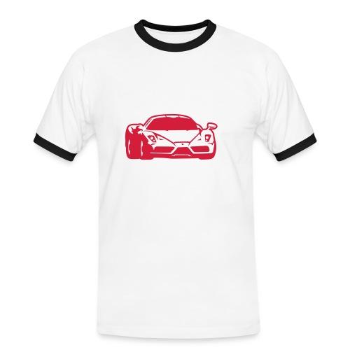 T-paita painatuksella - Miesten kontrastipaita