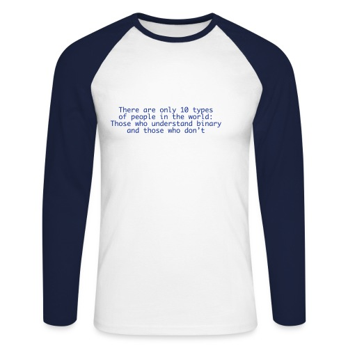 Binaercode - Männer Baseballshirt langarm