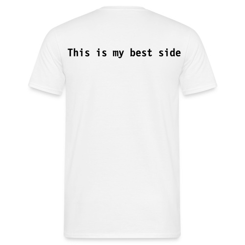 side t-shirt (back print) - Men's T-Shirt