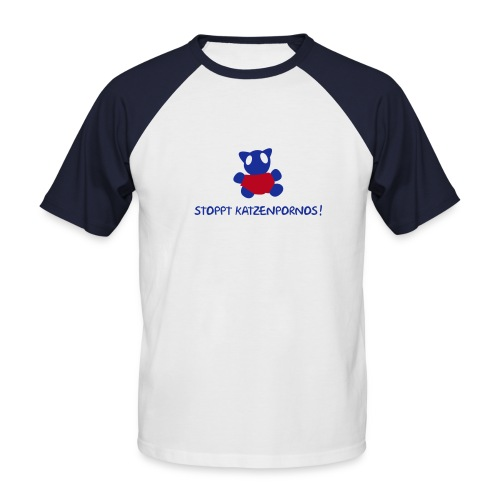 Hanes Raglan Kurzarm nv cats - Männer Baseball-T-Shirt
