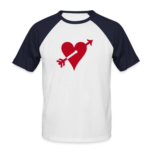 Hanes Raglan Kurzarm nv herz - Männer Baseball-T-Shirt