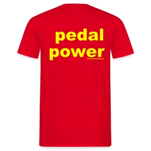 Pedal Power  -  Print on Back - Men's T-Shirt