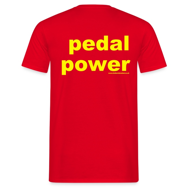 Pedal Power  -  Print on Back