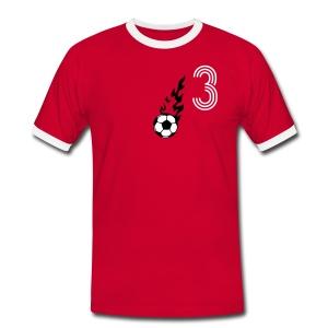 MACH 3 - Männer Kontrast-T-Shirt