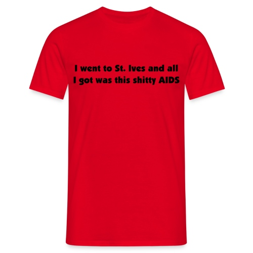 AIDS red T-Shirt - Men's T-Shirt