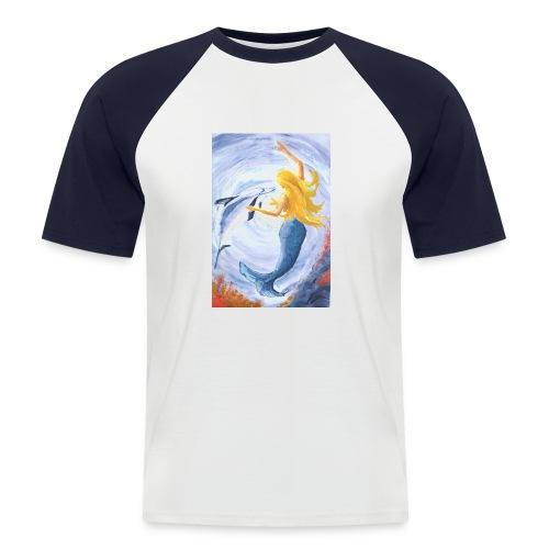 Delphin Seejungfrau T Shirt Mermaids & S/Y fuer Segelurlaub Segelreisen - Männer Baseball-T-Shirt