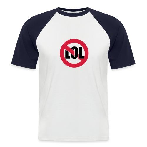 T-shirt baseball manches courtes Homme - interdit aux lol
