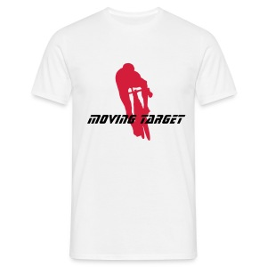 citycycling .moving target white - Men's T-Shirt