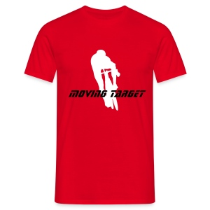 citycycling .moving target red - Men's T-Shirt