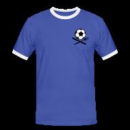 T-Shirts ~ Männer Kontrast-T-Shirt ~ STRANGOZZI (Azzurro i Bianco)