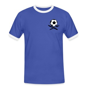 STRANGOZZI (Azzurro i Bianco) - Männer Kontrast-T-Shirt