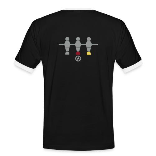 Schönes und Edeles Kicker T-Shirt - Flock - Männer Kontrast-T-Shirt