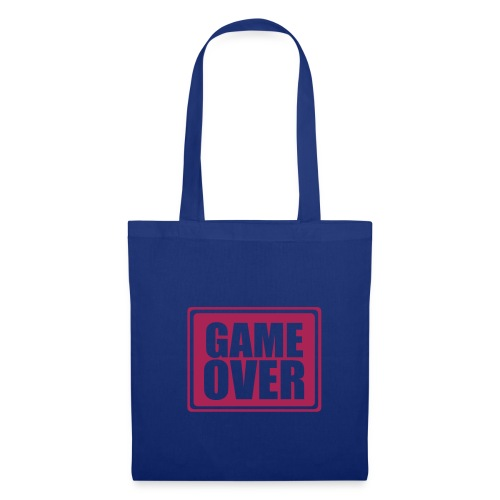 Sac Tissu Game Over Blue - Tote Bag