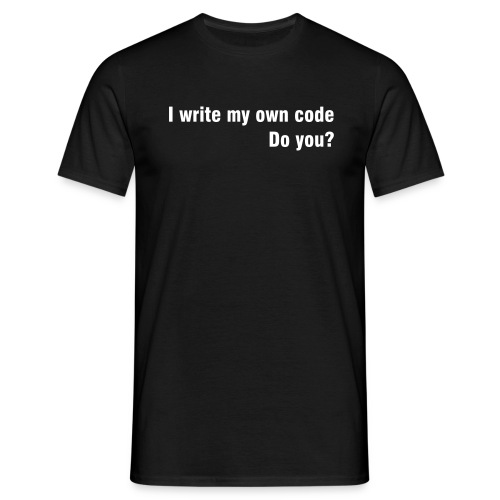 I write my own code - T-skjorte for menn