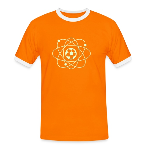 Clockwork orange glow-in-the-dark football atom - Men's Ringer Shirt