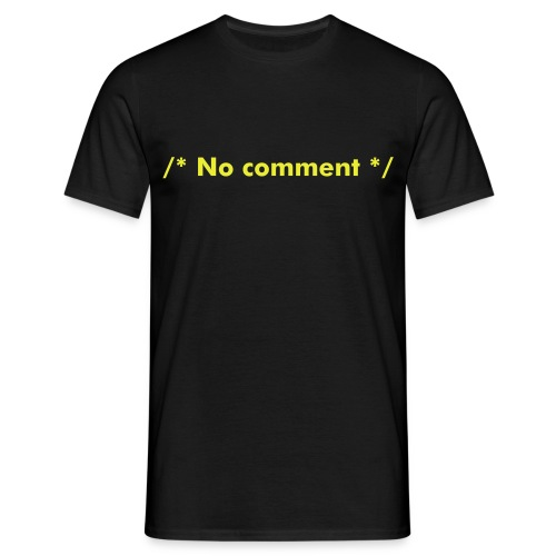 No comment - T-shirt Homme