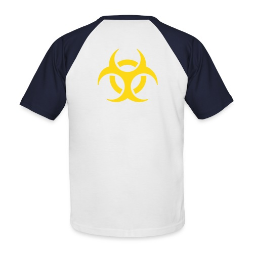 T-Shirt BioHazard Silver/Black/Gold - T-shirt baseball manches courtes Homme