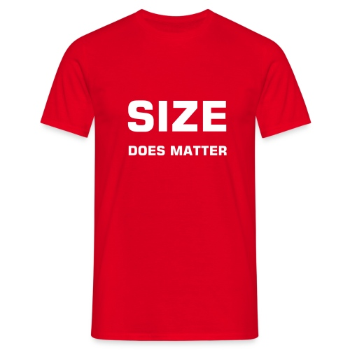 T shirt Size does matter Red - T-shirt Homme