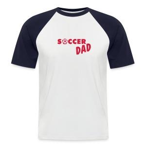 Soccer Dad Rood - Mannen baseballshirt korte mouw