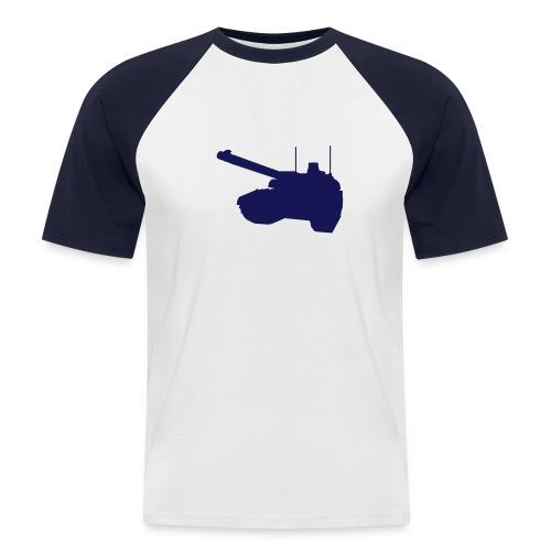 T-Shirt Blanc - Manches et Motif Bleus - T-shirt baseball manches courtes Homme