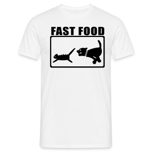Fun-T-Shirt Fast Food - Männer T-Shirt