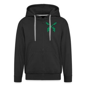 Carlise zipped hoodie with backprint - Men's Premium Hooded Jacket