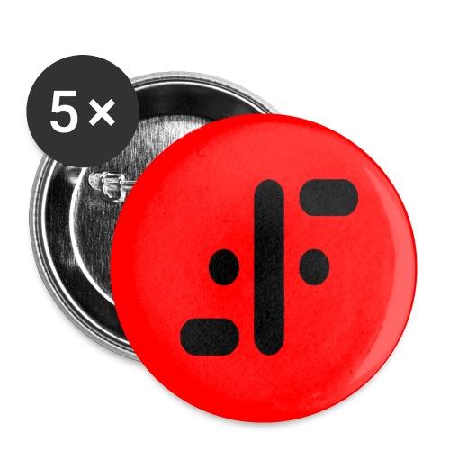Chapa V rojo - Chapa pequeña 25 mm