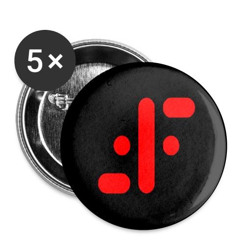 Chapa V negro - Chapa pequeña 25 mm
