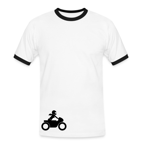 T-Shirt | black on white | front & back - Männer Kontrast-T-Shirt