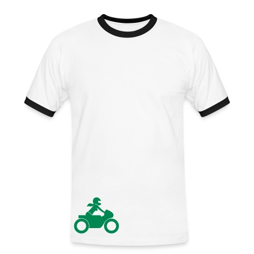 T-Shirt | green on yellow | front & back - Männer Kontrast-T-Shirt