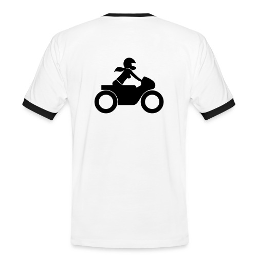 T-Shirt | black on white | back - Männer Kontrast-T-Shirt