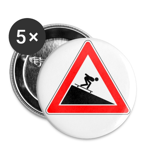 5 Longboard Buttons - Buttons groß 56 mm