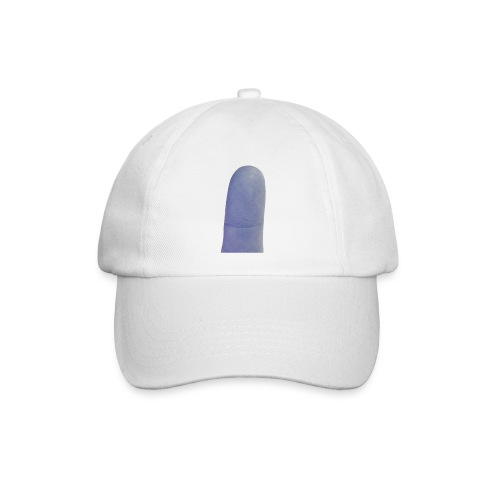 Cap met blauwe vinger - Baseballcap