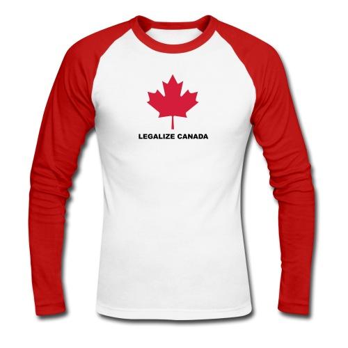 Legalize Canada - choisissez votre couleur de tee shirt - choose your tshirt color - T-shirt baseball manches longues Homme