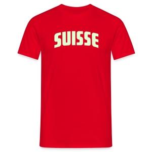 Suisse - Fussball T-Shirt rot - Leuchtet im Dunkeln - Männer T-Shirt