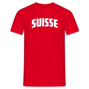 Suisse- Name und Nummer frei wählbar - Fussball T-Shirt rot - Männer T-Shirt