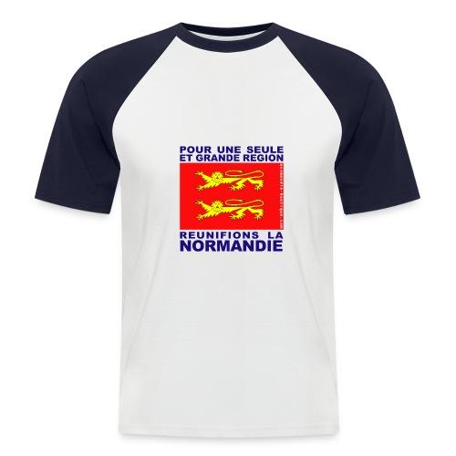 Deux léopards - Réunification - T-shirt baseball manches courtes Homme