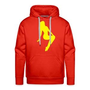 Sweater Yellow lady - Mannen Premium hoodie