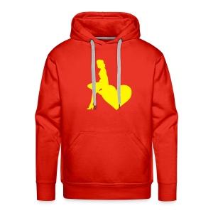 Sweater Yellow Heart lady - Mannen Premium hoodie