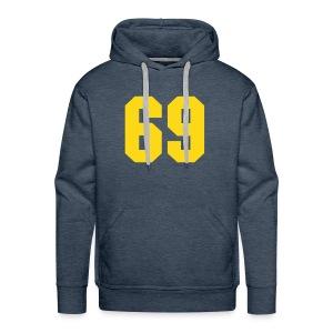 Sweater yellow 69 - Mannen Premium hoodie