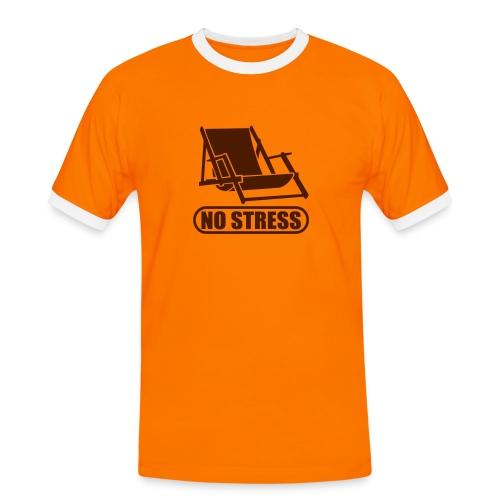 No Stress - Männer Kontrast-T-Shirt