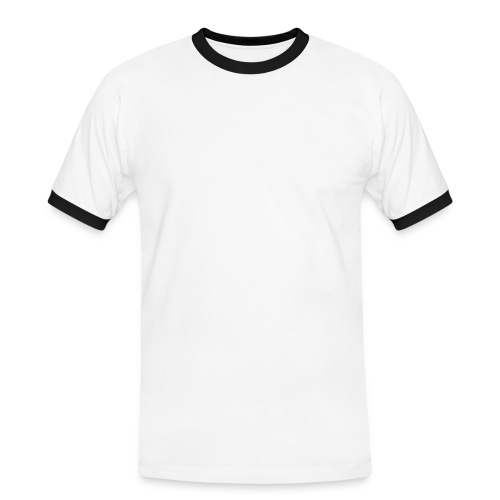 Mens Slim - Mannen contrastshirt