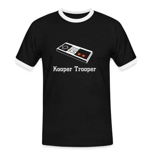 Kooper Trooper Tight Blue - Men's Ringer Shirt