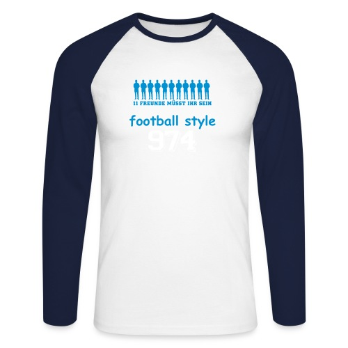 footballe style - T-shirt baseball manches longues Homme