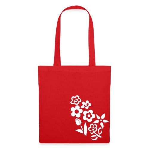 Ticino Bag Fiorata con testo modificabile (W) - Borsa di stoffa