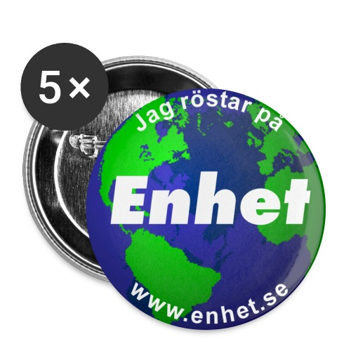 Knapp: Jag röstar på Enhet - Stora knappar 56 mm